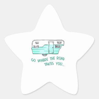 GO WHERE ROAD TAKES YOU STAR STICKER
