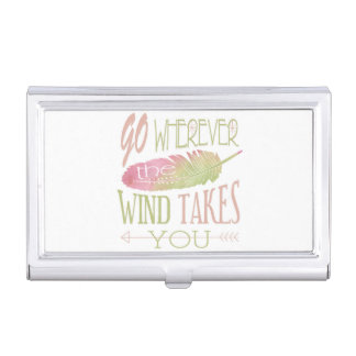 Go Wherever the Wind Takes You Business Card Case