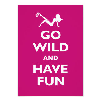 Go Wild Bachelorette Party Card