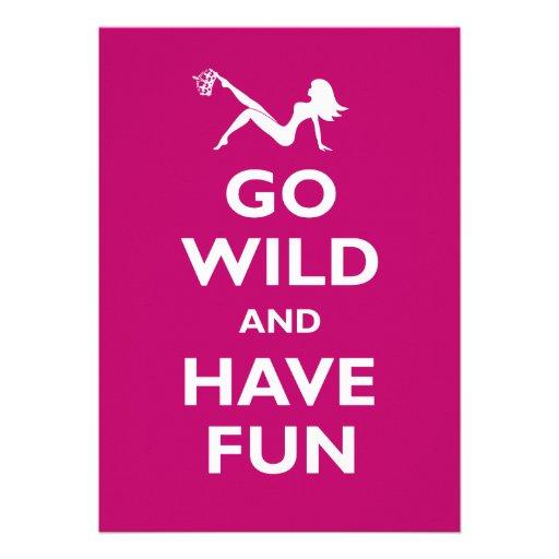 Go Wild Bachelorette Party Custom Invites