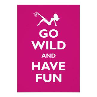 Go Wild Bachelorette Party 5x7 Paper Invitation Card