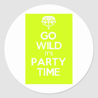 go wild its party time stickers
