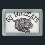 """GO WILDCATS BELT BUCKLE<br><div class=""""desc"""">Our mascot creates an image of a fierce competitor.  What a fierce image to represent your team on their gear.</div>"""