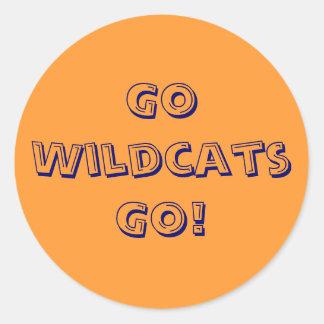 Go Wildcats Go! Classic Round Sticker