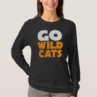 Go Wildcats Long Sleeve Womens Black Tee