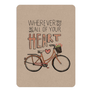 Go With All Of Your Heart – Vintage Bicycle Card