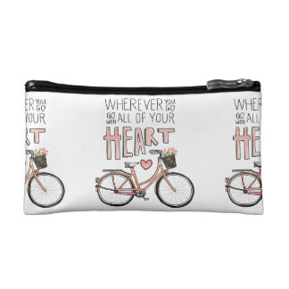 Go With All Of Your Heart – Vintage Bicycle Cosmetic Bag