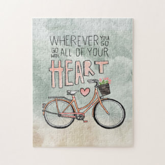 Go With All Of Your Heart – Vintage Bicycle Jigsaw Puzzle