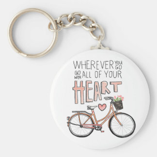 Go With All Of Your Heart – Vintage Bicycle Key Chain