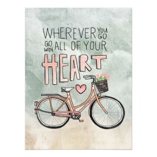 Go With All Of Your Heart – Vintage Bicycle Photo Print