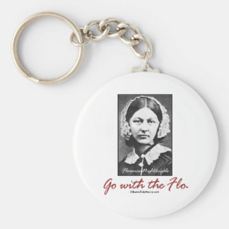 Go with Florence Nightingale Basic Round Button Keychain