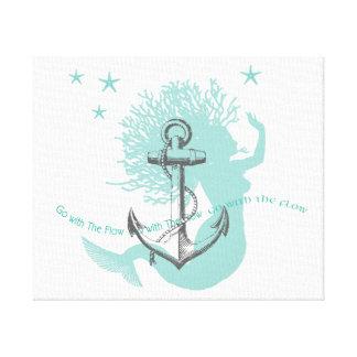 Go With Flow Mermaid Canvas Prints