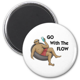 Go with the Flow 2 Inch Round Magnet
