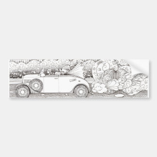 Go with the flow car bumper sticker
