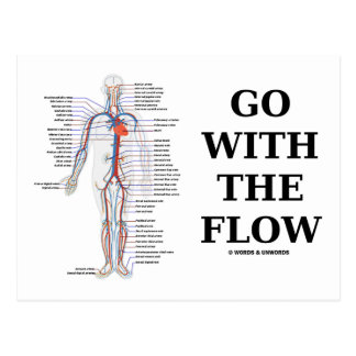 Go With The Flow (Circulatory System Attitude) Postcard