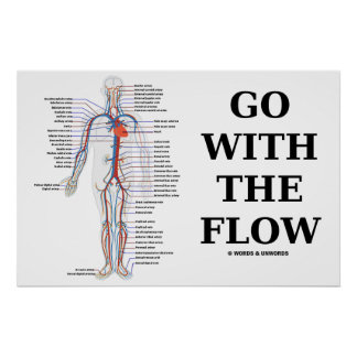 Go With The Flow (Circulatory System) Poster