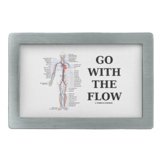 Go With The Flow (Circulatory System) Rectangular Belt Buckle