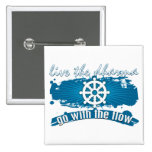 Go with the Flow Dharma Pinback Button