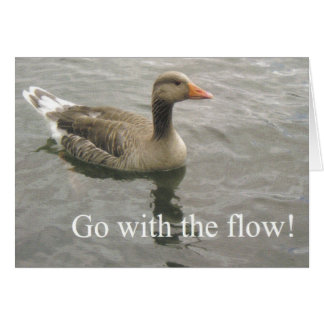 go with the flow duck card