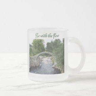 Go with the flow frosted glass coffee mug
