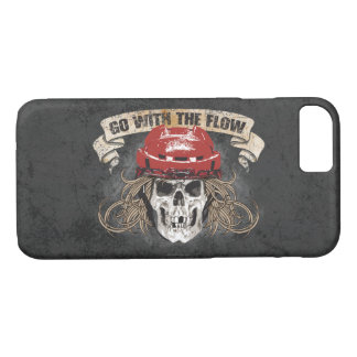 Go with the Flow (Hockey Hair) Red iPhone 7 Case