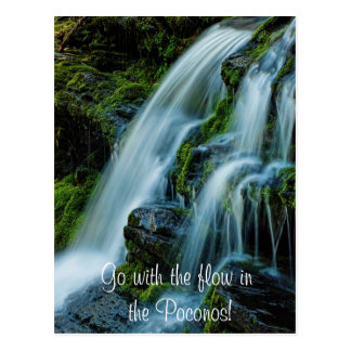 Go with the flow in the Poconos!Waterfall Postcard