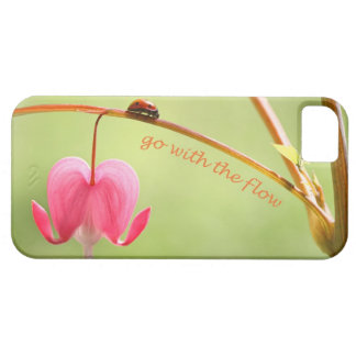 Go With the Flow Ladybug and Flower iPhone 5 Case