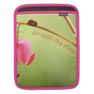 Go With the Flow Ladybug and Flower iPad Sleeve