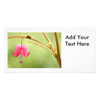 Go With the Flow Ladybug and Flower Picture Card