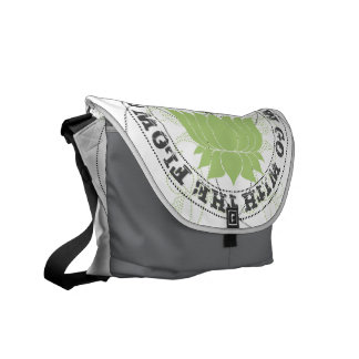 Go with the Flow lotus Flower Messenger Bags