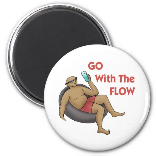 Go with the Flow Refrigerator Magnets