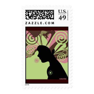 Go with the flow postage stamps