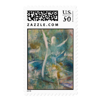 """""""Go With The Flow"""" Postage Stamp"""