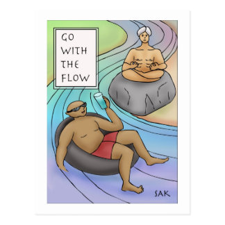 Go With The Flow Postcard