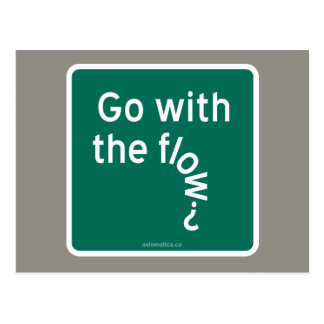 Go with the flow? postcard