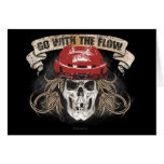 Go with the Flow (red) Greeting Card