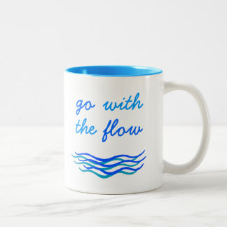 Go With The Flow Water Waves Script Mug