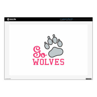 """Go Wolves 17"""" Laptop Decal"""