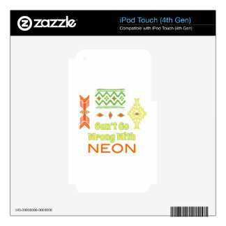 Go Wrong With Neon Skin For iPod Touch 4G