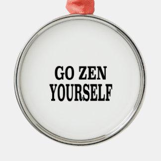 Go Zen Yourself (black breath edition) Metal Ornament