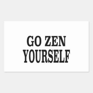 Go Zen Yourself (black breath edition) Rectangular Sticker