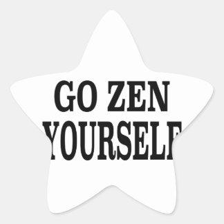 Go Zen Yourself (black breath edition) Star Sticker