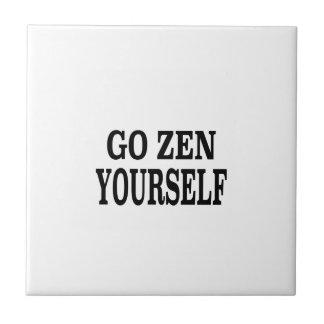 Go Zen Yourself (black breath edition) Ceramic Tile