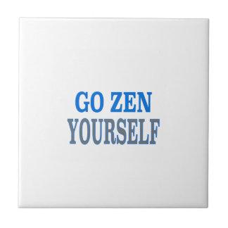 Go Zen Yourself (blue breath edition) Tile