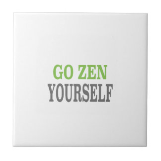 Go Zen Yourself (green breath edition) Ceramic Tile