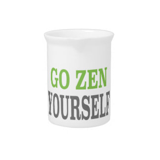 Go Zen Yourself (green breath edition) Pitcher