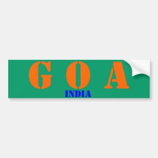 Goa* India Bumper Sticker