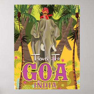 Goa India vintage travel poster