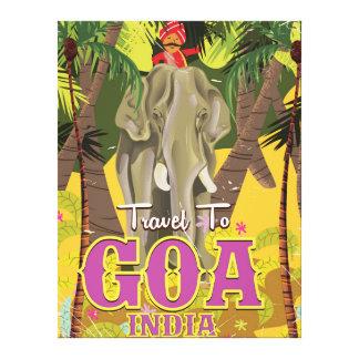 Goa India vintage travel poster Canvas Print