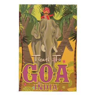 Goa India vintage travel poster Wood Wall Art